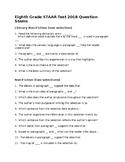 STAAR Eighth Grade ELA Question Stems 2018 Test