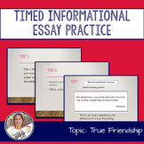 STAAR English I EOC 11 Minute Essay Expository Practice- F