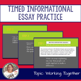 STAAR English I EOC 11 Minute Essay Expository Practice- Working Together