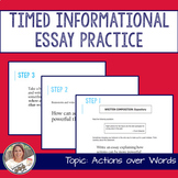 STAAR English I EOC 11 Minute Essay Expository Practice- Actions
