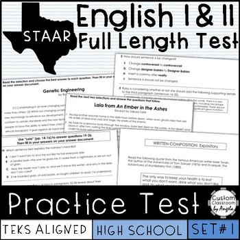 Texas Staar English Ii Worksheets Teaching Resources TpT
