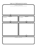 STAAR English I and II Expository Planning Sheet, Lined Pa