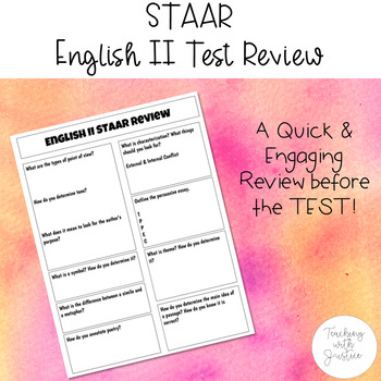 STAAR English II Test Review