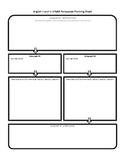 STAAR English II and III Persuasive Planning Sheet, Lined