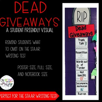 STAAR Expository Dead Giveaways