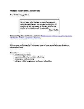 STAAR EOC Expository Essay
