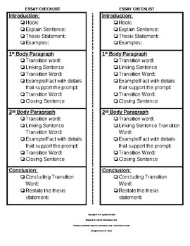 How To Write A Proposal For An Essay Staar Expository Essay Checklist Thesis Examples For Essays also Argumentative Essay Topics On Health Staar Expository Essay Checklist By Agruelia Escalera  Tpt Thesis Statements For Essays