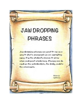 STAAR Expository Writing: Jaw Dropping Phrases