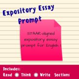 STAAR Expository Essay Prompt
