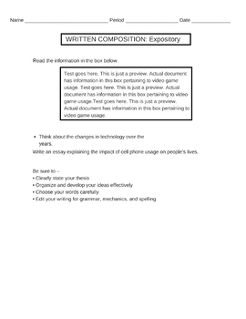 Staar Expository Essay Prompt Cell Phone Usage Staar Expository Essay Prompt Cell Phone Usage