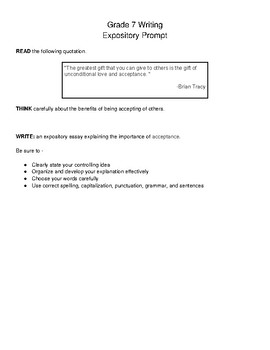 Staar expository essay prompts 7th grade by agruelia escalera tpt