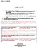 STAAR Expository Essay Review Puzzle Activity