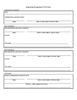 STAAR Expository Essay Template