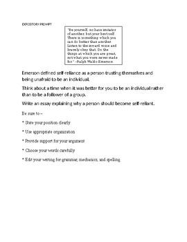 STAAR Expository/Persuasive Prompts