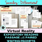 Secondary Reading Passage & Writing Prompt - STAAR PARCC F