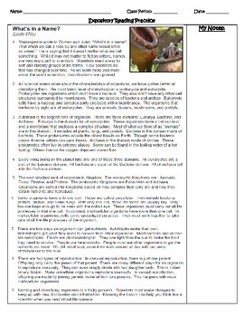 STAAR Expository Reading Comprehension  Practice- Science Passages