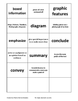 STAAR Expository Vocabulary Cards
