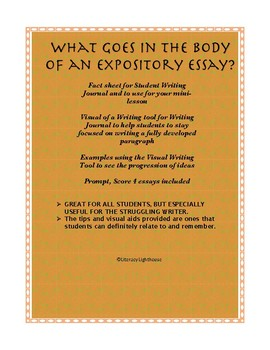 STAAR Expository: What Goes in the Body of an Essay
