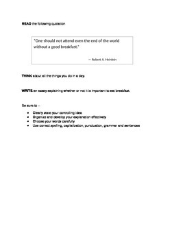 STAAR Expository Writing - 5 Prompts