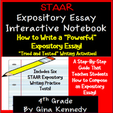 4th Grade STAAR Writing Expository Essay Interactive Notebook, & Practice Tests