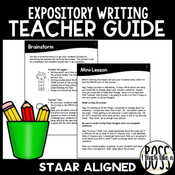 STAAR Expository Writing Guide for Teachers