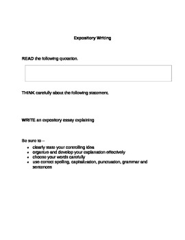 expository essay lesson plans 7th grade The writing recipe: essay structure for ells grade 8 / ela / speaking & listening lesson planpdf video license.
