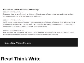 STAAR Expository Writing Prompts: Read Think Write