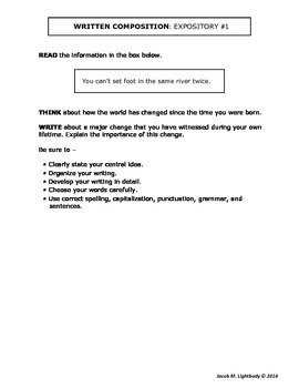 STAAR Expository Writing Prompts/4th Grade