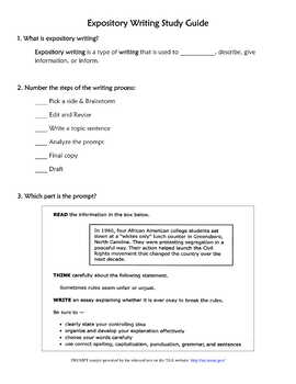STAAR Expository Writing Study Guide