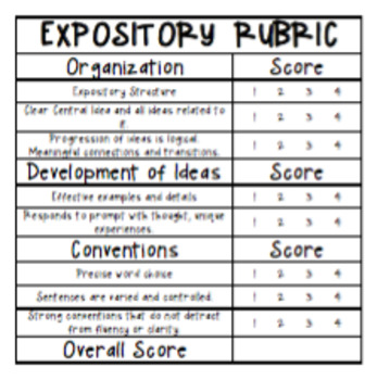 STAAR Expository and Narrative Publishing Paper with Student-Friendly Rubric