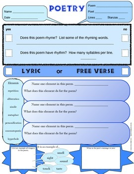 STAAR Fill In Worksheet for Other Genres POETRY HISTORICAL FICTION Drama SciFi