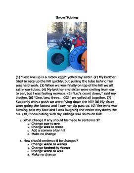 STAAR Focused Practice: Subject Verb Agreement