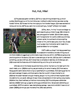 STAAR Football Grammar Passages: Revising Passage and Editing Passage