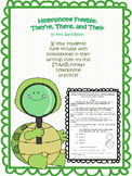 They're, Their, and There Homophone Freebie