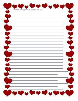 STAAR Format Persuasive Essay - Valentine's Day