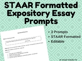 expository essay prompt staar New high school definition prompt  high school expository/informative  prompts  write an essay explaining the importance of being able to see a  situation.