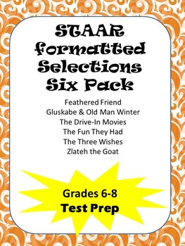 STAAR Formatted selections Six Pack