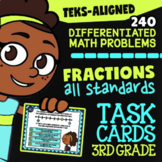 Fractions ★ 3.3A 3.3B 3.3C 3.3D 3.3E 3.3F 3.3G 3.3H ★ TEKS 3rd Grade Math Bundle