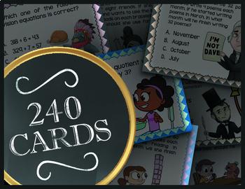 Fractions ★ 4.3A 4.3B 4.3C 4.3D 4.3E 4.4F & 4.3G ★ 4th Grade TEK Math Task Cards
