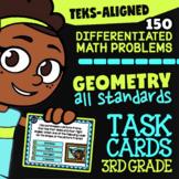 STAAR Geometry ★ 3.6A 3.6B 3.6C 3.6D 3.6E ★ TEKS 3rd Grade Math Task Card Bundle