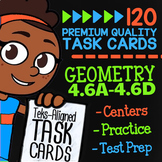 STAAR Geometry ★ 4.6A 4.6B 4.6C & 4.6D ★ 4th Grade TEKS Math Task Card Bundle
