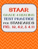 STAAR Grade 4 Reading Test Practice for Standards Fig. 19, 4.2 B, 4.2 E and 4.11