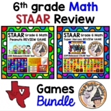 STAAR Grade 6 Math REVIEW Games BUNDLE Interactive Powerpoint with Keys