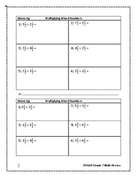 STAAR Grade 7 Math Prep: Multiplying Mixed Numbers