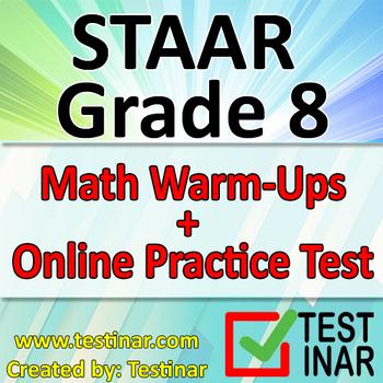 STAAR Grade 8 Math Warmups + Online STAAR Grade 8 Math Practice Questions