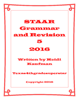 STAAR Grammar and Revision Part 5