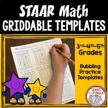 STAAR Griddable Templates-Grades 3rd, 4th and 5th