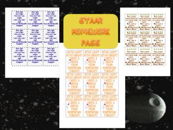 STAAR Homework Pass