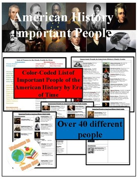 Us history study guide teaching resources teachers pay teachers staar important people of american history study guide publicscrutiny Images