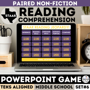 STAAR Informational Text PowerPoint Game - Jeopardy